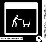 shopping cart calendar page...   Shutterstock .eps vector #498985321