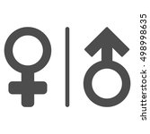 wc gender symbols icon. glyph... | Shutterstock . vector #498998635