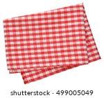 kitchen napkin isolated on... | Shutterstock . vector #499005049