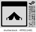 camping calendar page icon with ...   Shutterstock .eps vector #499011481