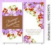 vintage delicate invitation...   Shutterstock .eps vector #499019974