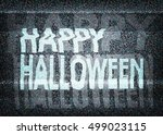 happy halloween message on an... | Shutterstock .eps vector #499023115