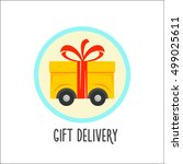 delivery gift icons. pictogram  ... | Shutterstock .eps vector #499025611