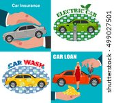 set of car business concepts | Shutterstock . vector #499027501