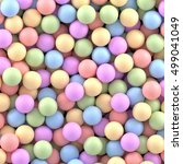 colorful balls background.... | Shutterstock .eps vector #499041049