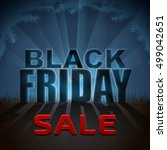 black friday sale element with... | Shutterstock . vector #499042651