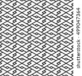 abstract geometric pattern ... | Shutterstock .eps vector #499047364