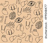human organs pattern   Shutterstock .eps vector #499048477