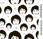 set of character lip sync... | Shutterstock .eps vector #499048501
