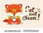 vector get well soon... | Shutterstock .eps vector #499052065