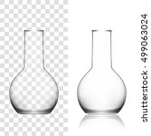 chemical laboratory glassware... | Shutterstock .eps vector #499063024