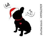 french bulldog portrait in a... | Shutterstock .eps vector #499063909