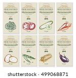 vegetable seeds packets... | Shutterstock .eps vector #499068871