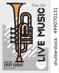 live music minimalistic cool... | Shutterstock .eps vector #499070131