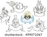 set of various decorative... | Shutterstock .eps vector #499071067