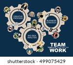 flat design illustration... | Shutterstock .eps vector #499075429