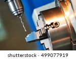 metalworking drilling process... | Shutterstock . vector #499077919
