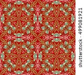 seamless vector pattern... | Shutterstock .eps vector #499081921