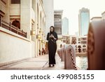 traditional arabic young woman... | Shutterstock . vector #499085155