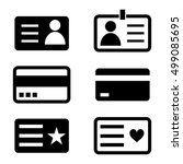 black and white id card icons. | Shutterstock .eps vector #499085695