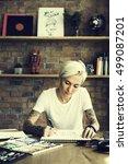 tattoo woman creative ideas... | Shutterstock . vector #499087201