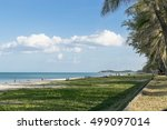 soft focus of sparkling sea... | Shutterstock . vector #499097014