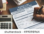 payday loan application form... | Shutterstock . vector #499098964