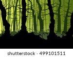 vector illustration of a creepy ... | Shutterstock .eps vector #499101511