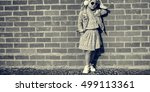 fashionista girl child adorable ... | Shutterstock . vector #499113361