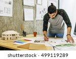 design studio architect... | Shutterstock . vector #499119289