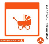 baby carriage calendar page...   Shutterstock .eps vector #499119445