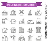 building construction icons ... | Shutterstock .eps vector #499120417