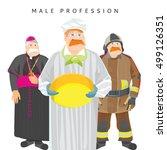 a set of men's professions... | Shutterstock .eps vector #499126351