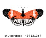 butterfly design for clothing.... | Shutterstock .eps vector #499131367