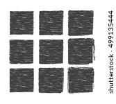 set of grunge rectangle brush...   Shutterstock .eps vector #499135444