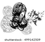 beautiful young witch from... | Shutterstock .eps vector #499142509