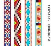 pattern tribe dakota indians.... | Shutterstock .eps vector #499143661