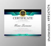 certificate template awards... | Shutterstock .eps vector #499147474
