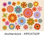 Stock vector vintage flowers part 499147639