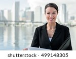 businesswoman with notebook and ...   Shutterstock . vector #499148305