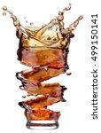 cola splash isolated on white... | Shutterstock . vector #499150141