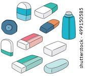 vector set of eraser | Shutterstock .eps vector #499150585