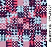 mosaic seamless pattern design... | Shutterstock .eps vector #499156309
