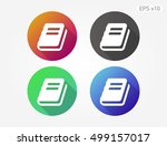 colored icon of book or... | Shutterstock .eps vector #499157017