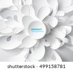 abstract grey background with... | Shutterstock .eps vector #499158781