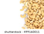 heap cashews top view frame or... | Shutterstock . vector #499160011
