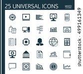 set of 25 universal editable... | Shutterstock .eps vector #499161349