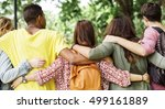 diverse group young people... | Shutterstock . vector #499161889