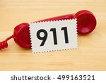 calling to get help  a retro...   Shutterstock . vector #499163521