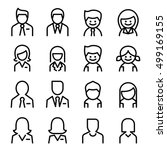 user   avatar  man   woman icon ... | Shutterstock .eps vector #499169155